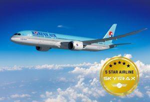 Korean Air ottiene da SkyTrax il riconoscimento di compagnia aerea a 5 stelle