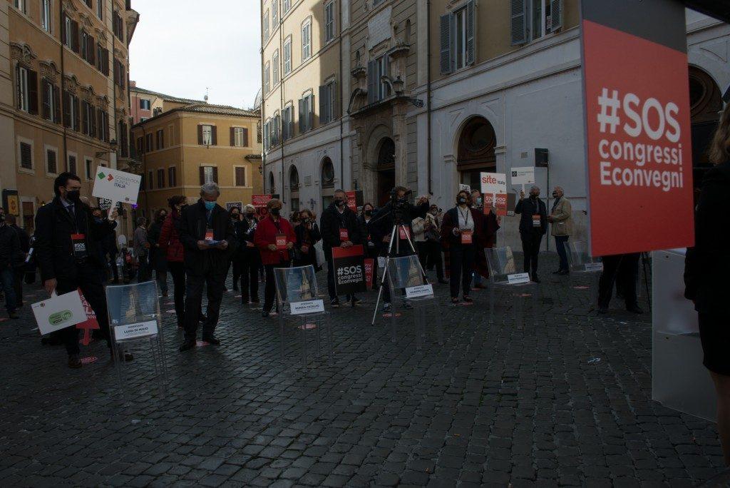 Il settore dei congressi e degli eventi manifesta a Roma contro il Governo
