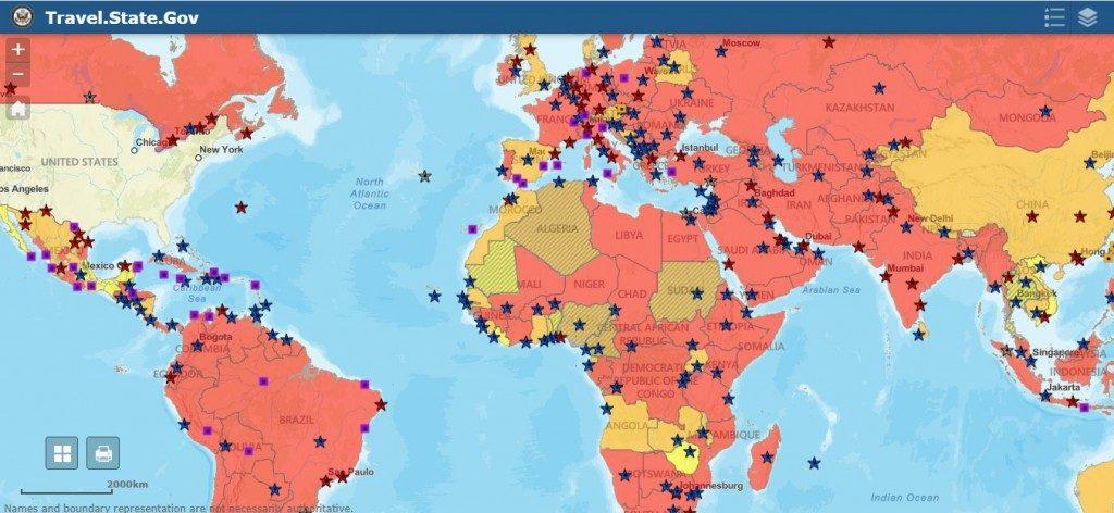 Stati Uniti: lo sconsiglio di viaggio riguarda anche Italia e Regno Unito