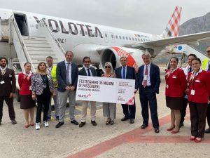 Volotea taglia il traguardo dei suoi primi 35 milioni di passeggeri