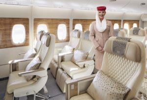 Emirates svela la nuova, spettacolare cabina di Premium economy dell'A380