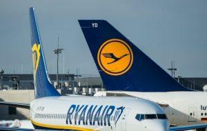 Ryanair chiede all'Ue l'annullamento degli aiuti governativi a Lufthansa